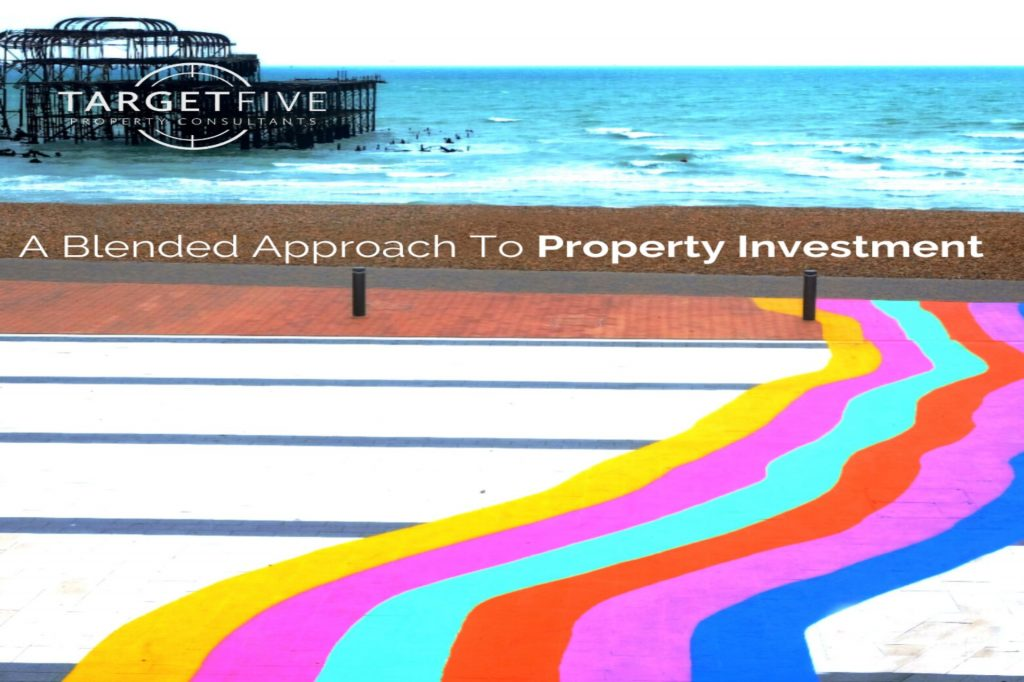 title page to blog depicting the west pier Brighton with pebble beach and rainbow coloured pathway