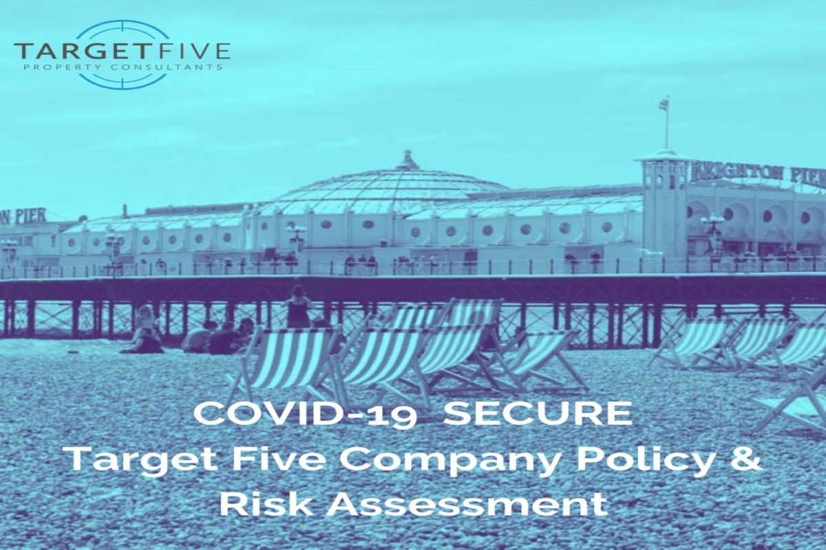blue tinted image of Brighton Pier and beach & title to our covid 19 secure procedures